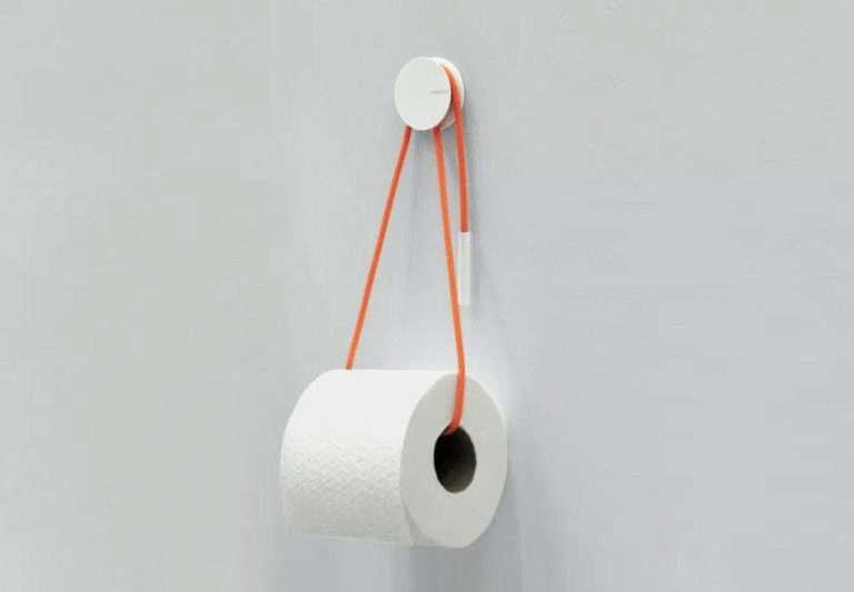 Diablo Toilet Paper Holder in Orange