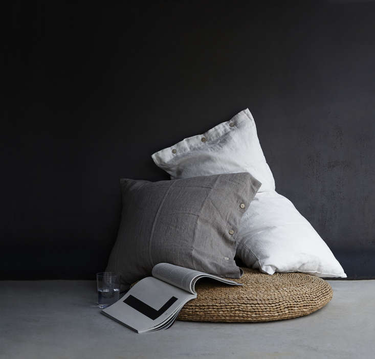Treat your pillow to the perfect case. We love Rough Linen's Orkney Pillow Shams; from $55. Photograph by Laurie Frankel.