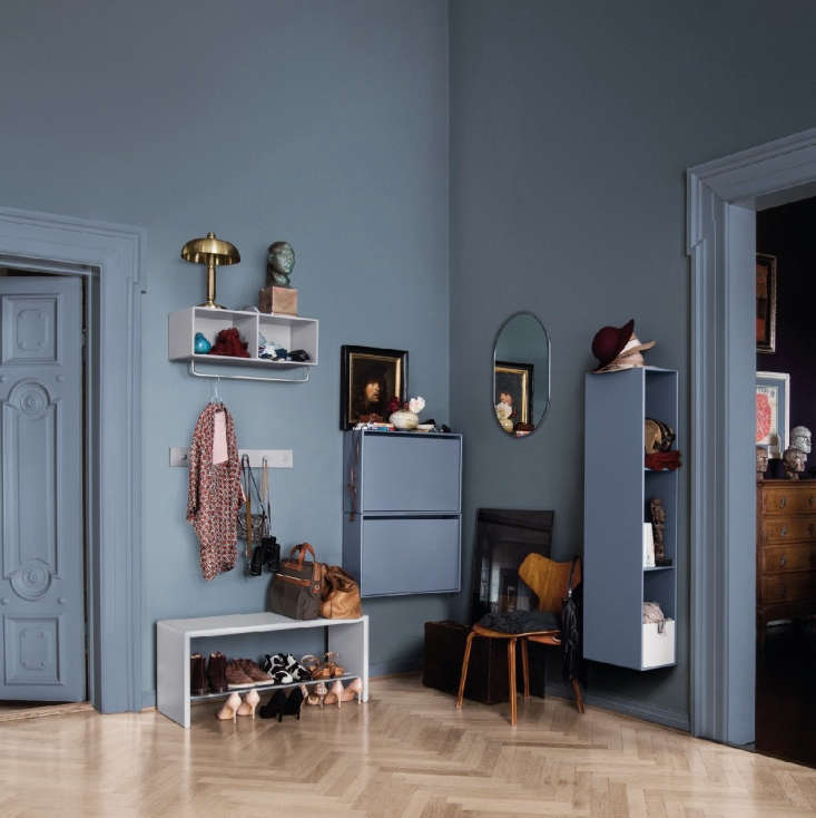 Modular hallway and entry storage solutions from Montana of Denmark