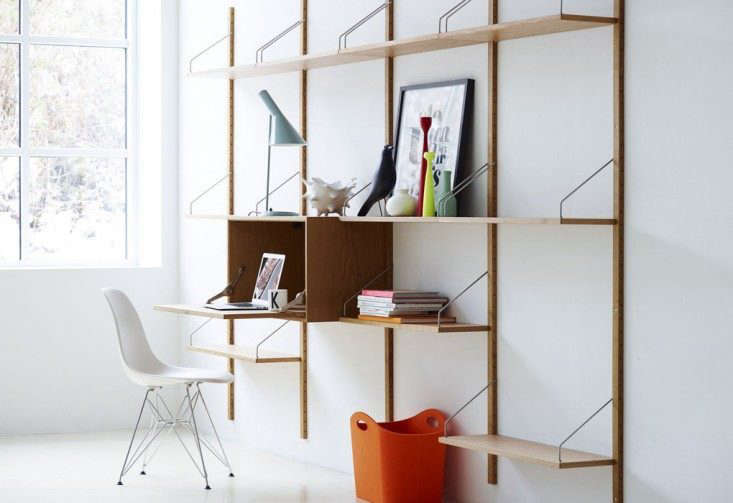 The Royal System Shelving Unit C is available in solid walnut and soaped oak; $5,985 from Design Within Reach.