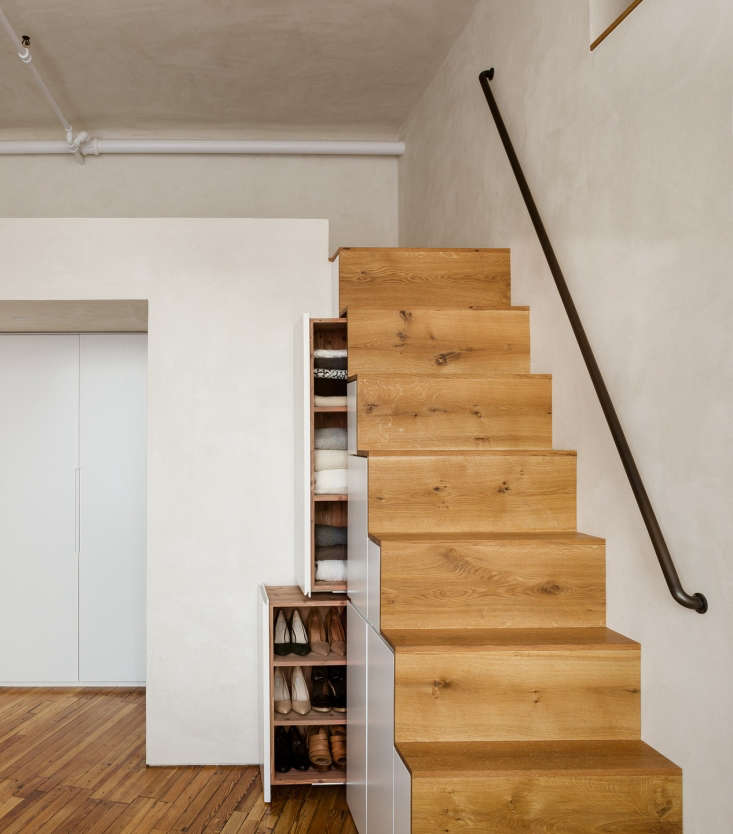 Storage staircase in a Gramercy Park apartment remodel