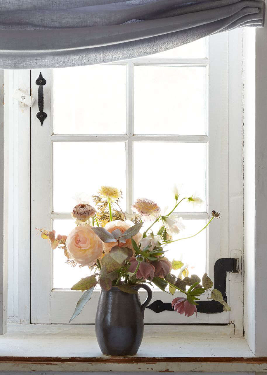 Old windows are charming but may require extra care. Photograph by Marili Forastieri, produced and styled by Zio & Sons, from A 1700s Stone Farmhouse in the Hudson Valley, Discovered via Google.