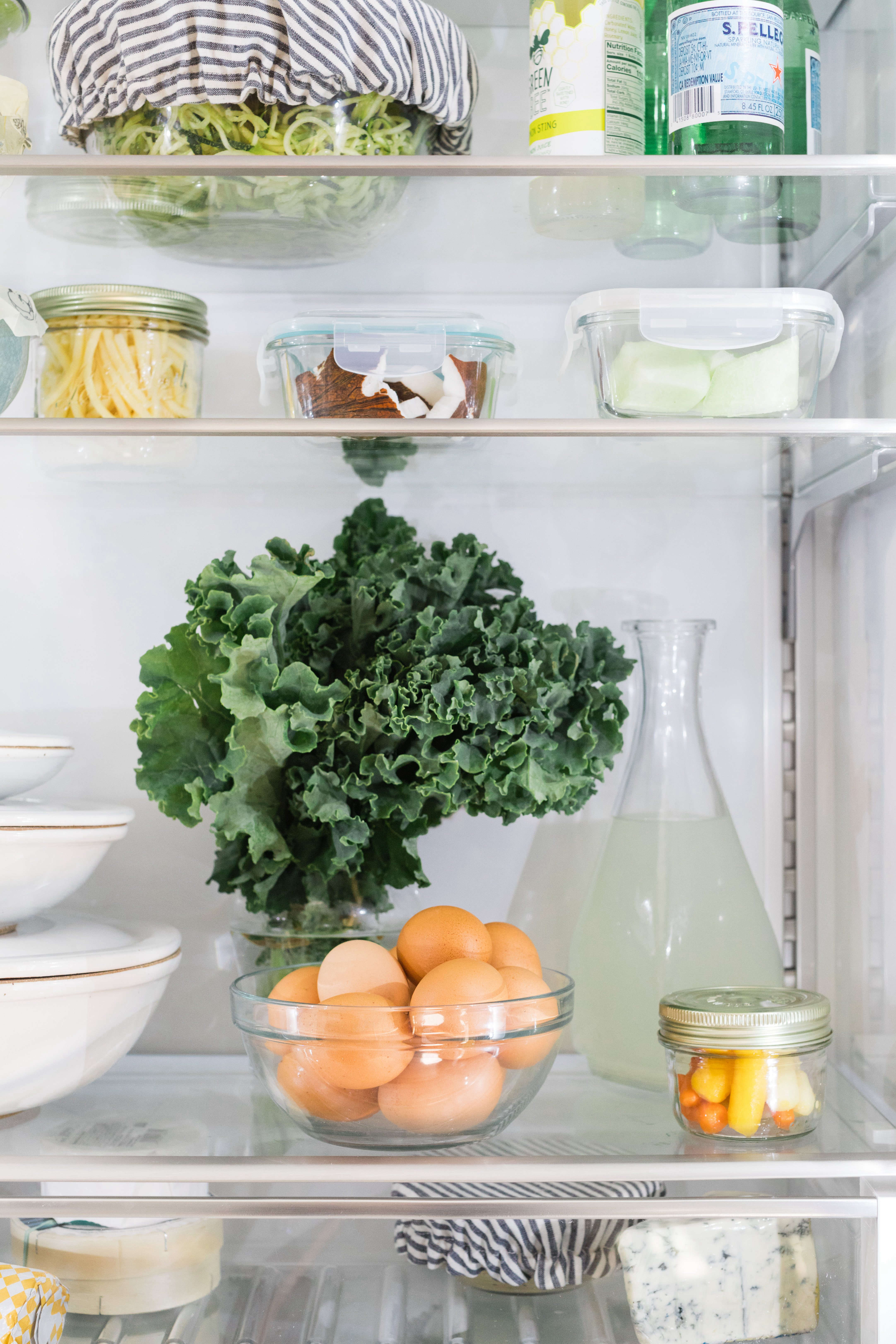 organized eco friendly refrigerator bosch kale eggs