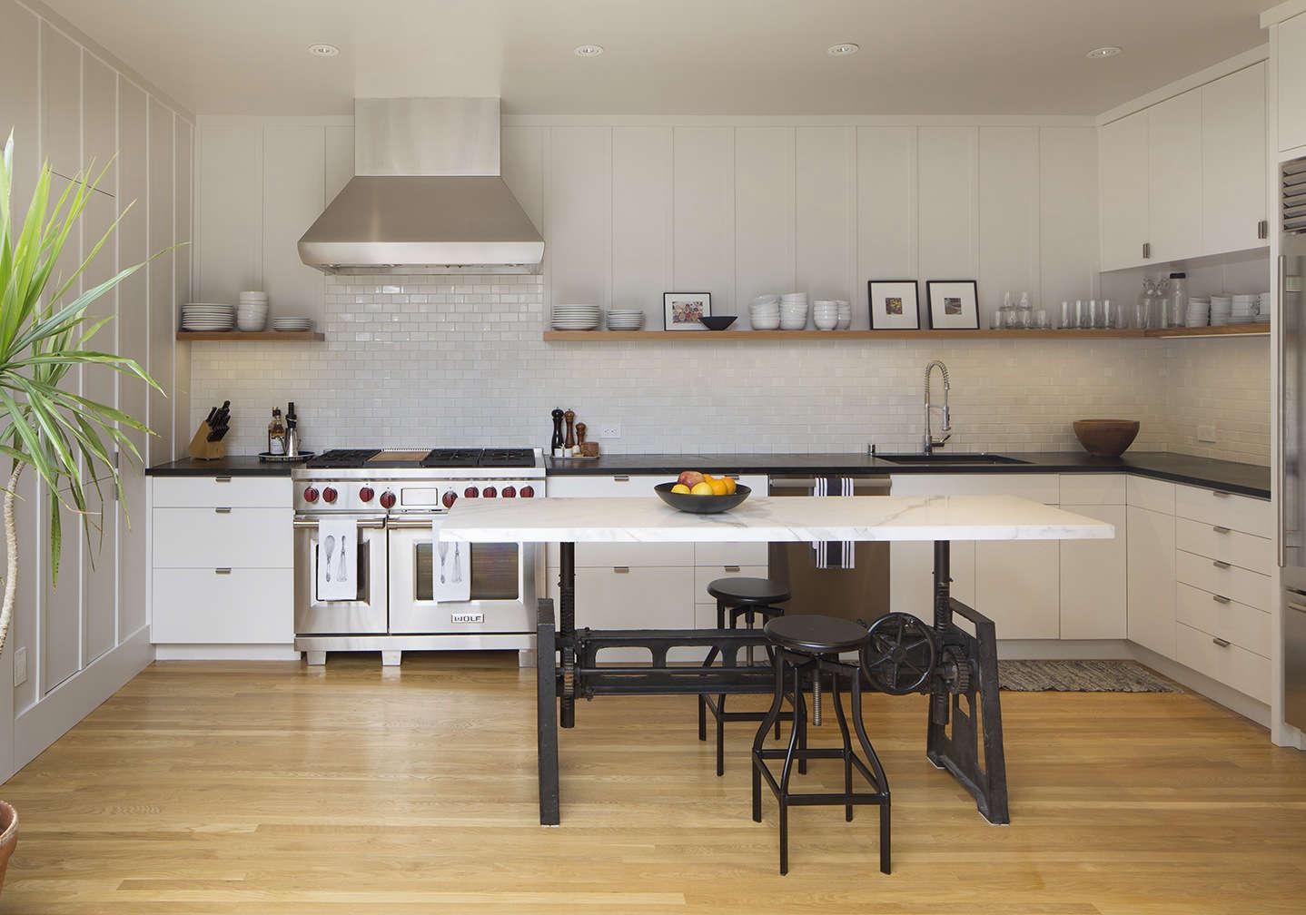 Board-and-batten SF kitchen remodel by Malcolm Davis Architecture