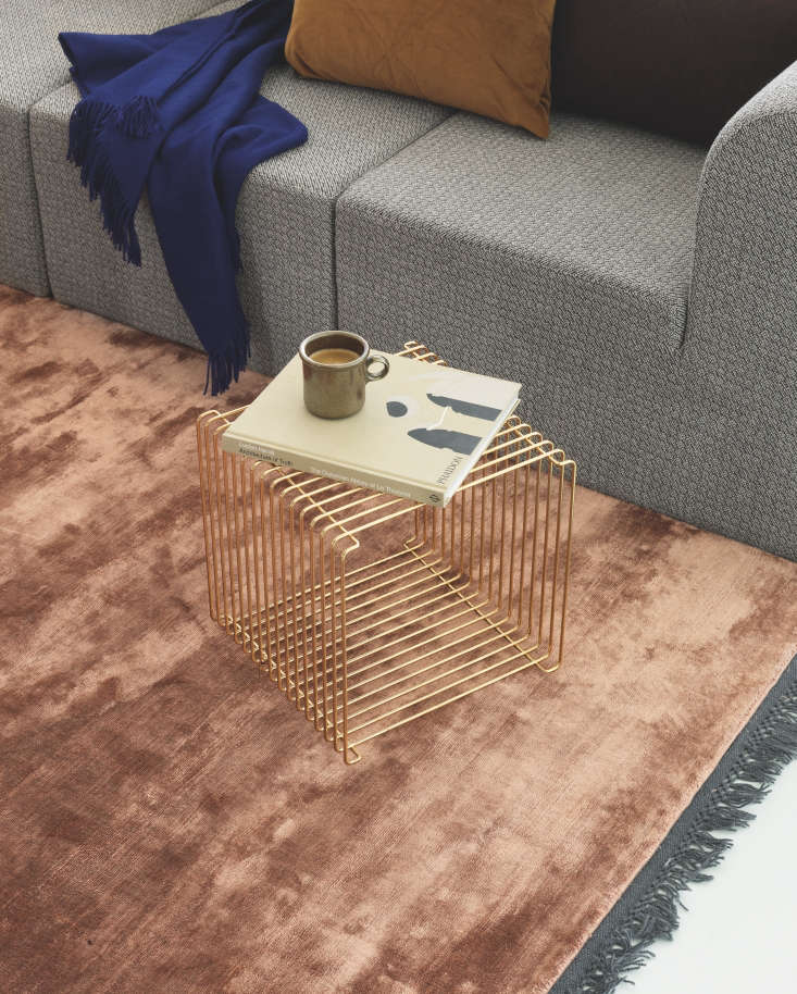 Verner Panton Wire Cube from Montana of Denmark used as a coffee table