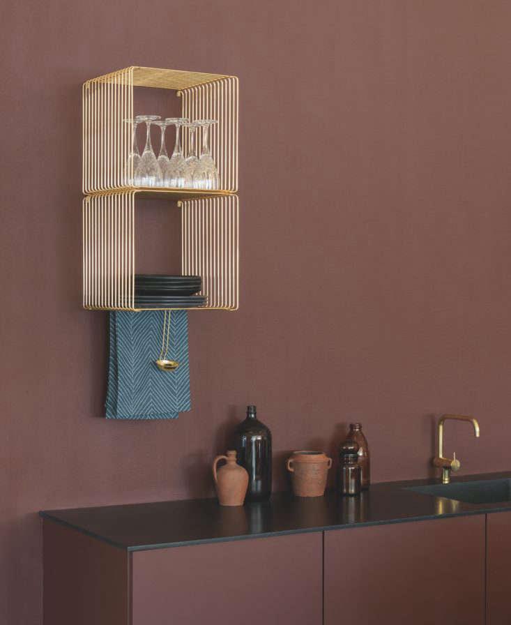 Verner Panton Wire Cube as kitchen dish rack via Montana of Denmark