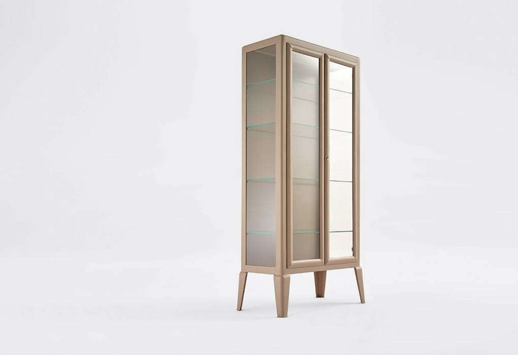 The Adico Classics Collection 2-door metal and glass, medical-style cabinet, available from twentyonetwentyone.