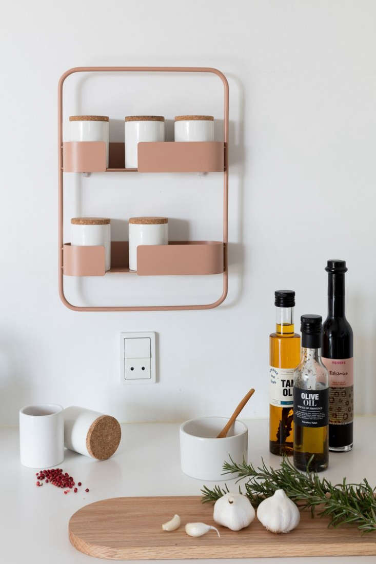 DesignBite Spice Jar Rack Pink Metal