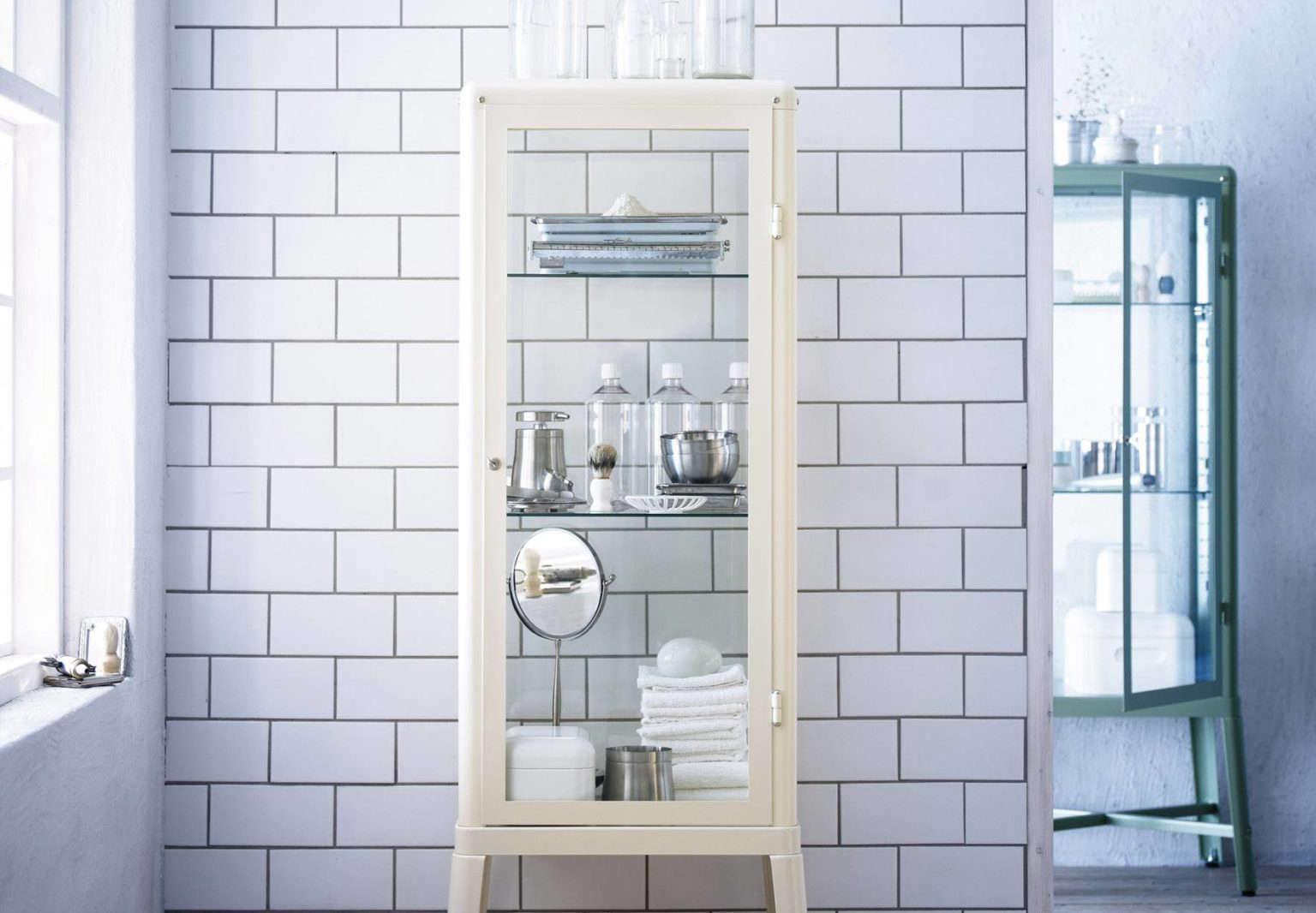 Ikea Fabrikor cabinets in a bathroom. Photo by Ikea.