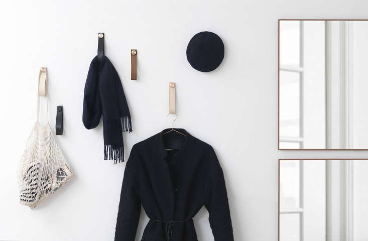 By Lassen Stropp Leather Loops with Coats and Scarves