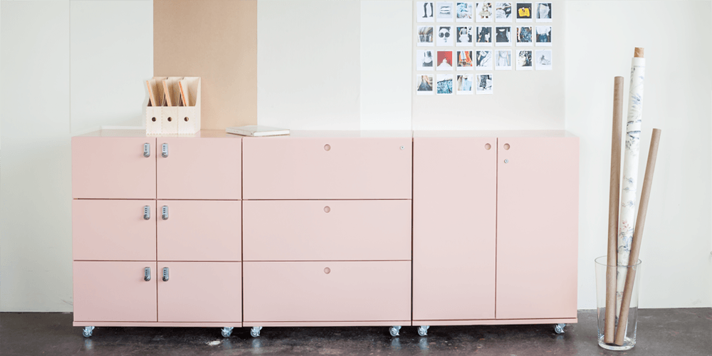 Heartwork Building Block Lateral Files in Pink