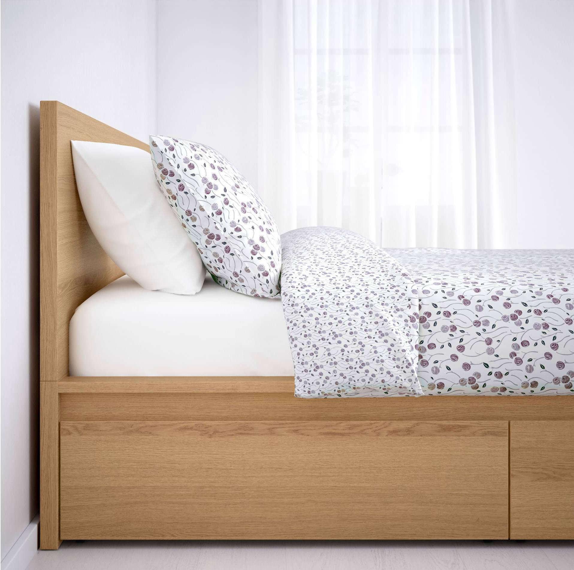 IKEA Malm Storage Bed in Oak