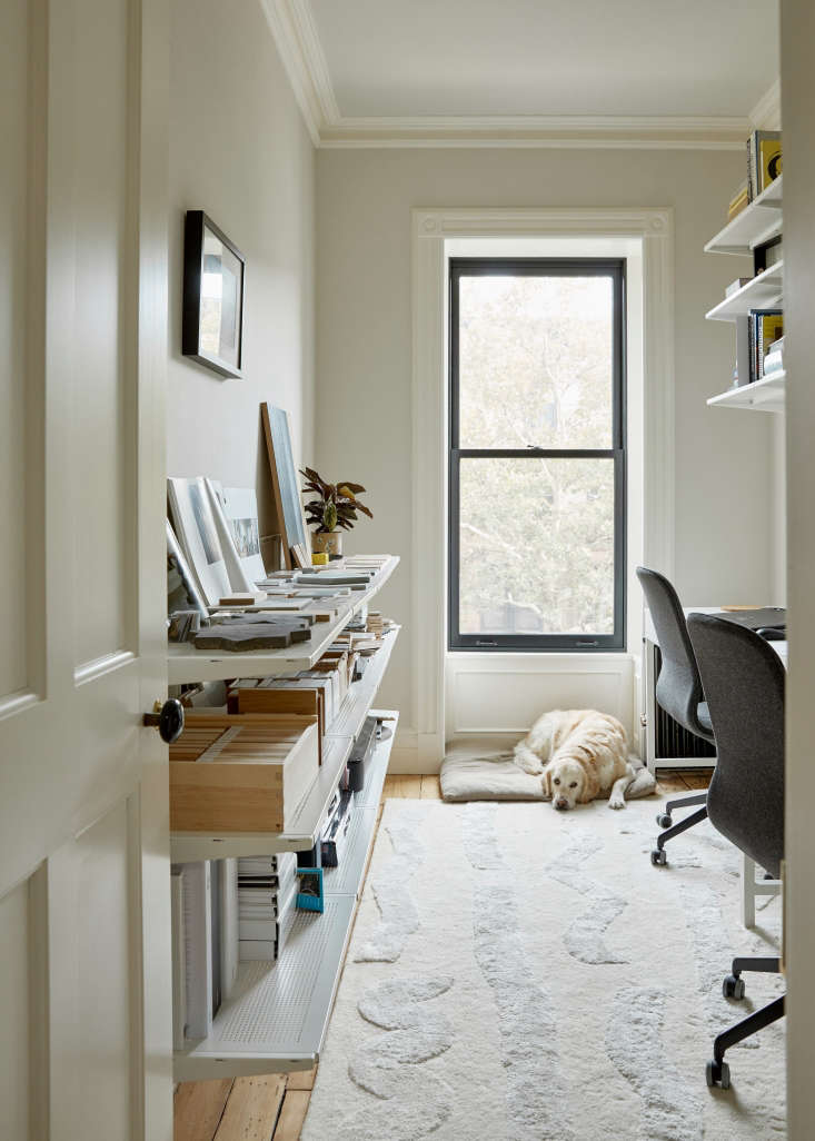 Home office of architect Jess Thomas and director-producter Hagan Hinshaw. Kate Sears photo.