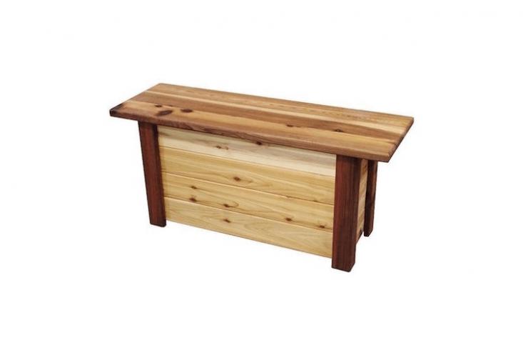 wood storage bench at wayfair