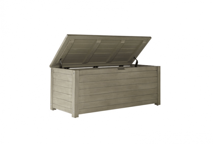 outdoor storage bench from CB2