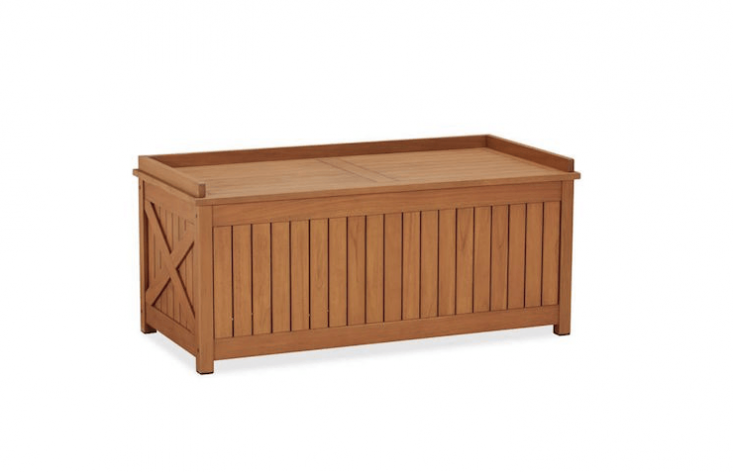 outdoor storage bench from Pottery Barn