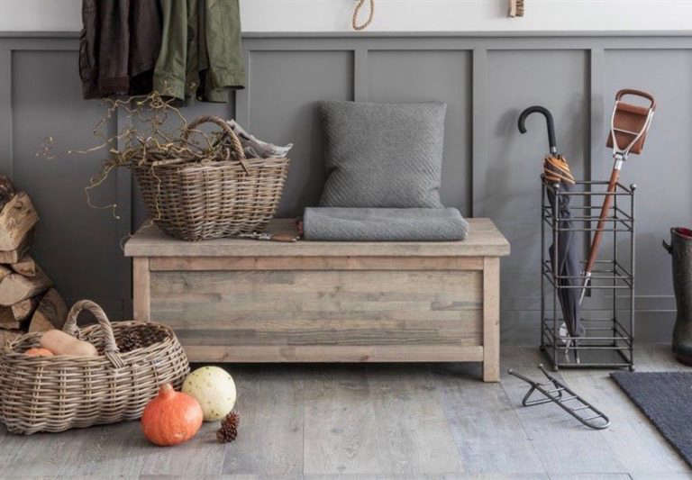 outdoor storage bench wood from Garden Trading