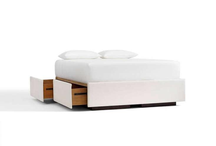 Pottery Barn Upholstered Storage Platform Bed