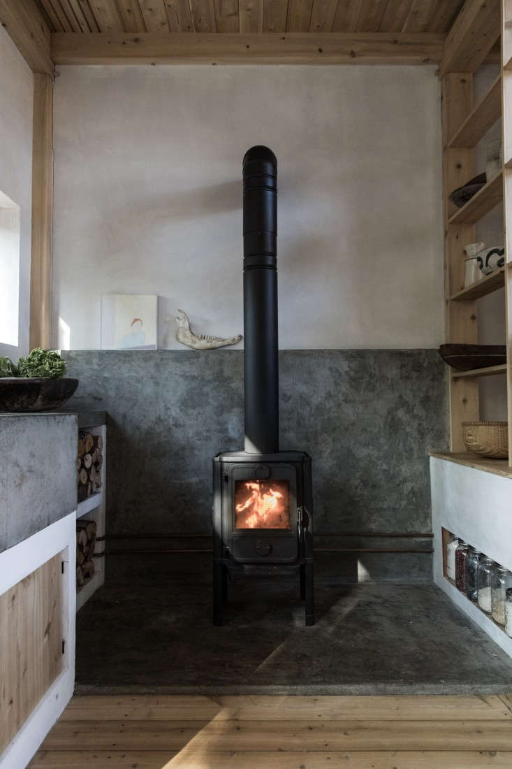 Soot House Wood Stove by Anthony Esteves on Spruce Head in Maine, Photo by Greta Rybus