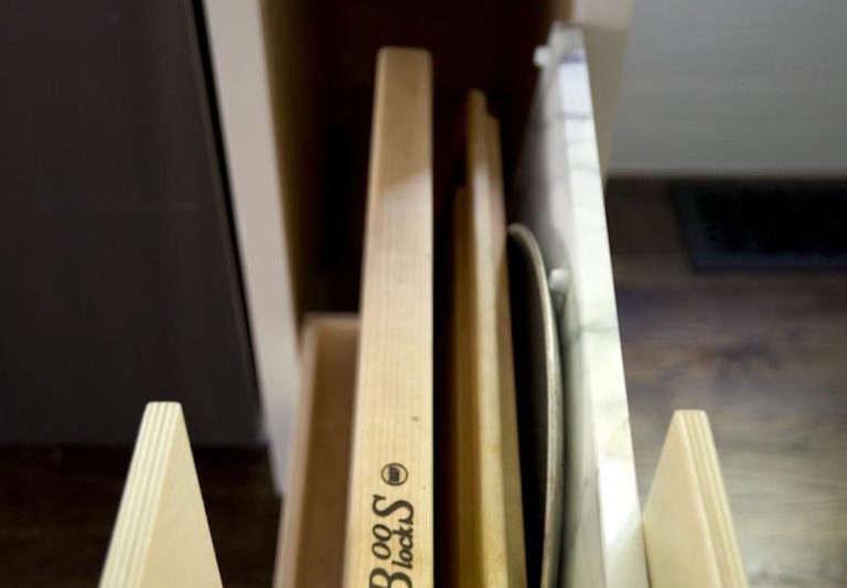 kitchen storage cutting board drawer