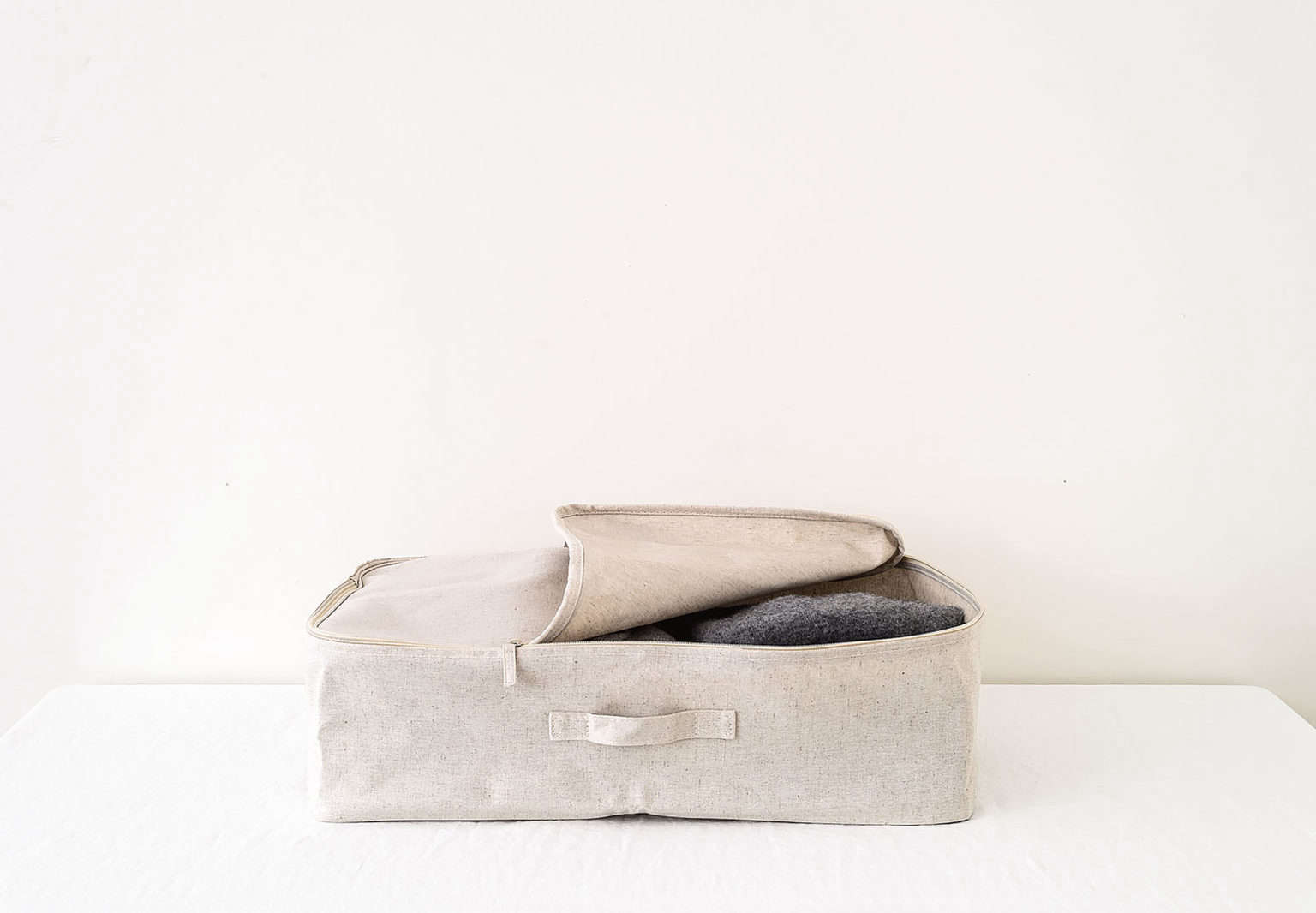 Zippered Canvas Storage Bag as part of the Remodelista Storage 75 Series