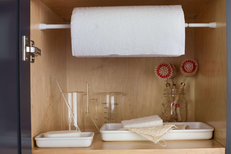 utility closet storage organization shelves by Mimi giboin