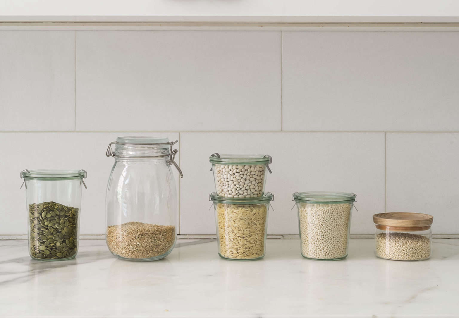 Decanting Grains in Weck Jars Styling Alexa Hotz Photo Matthew Williams