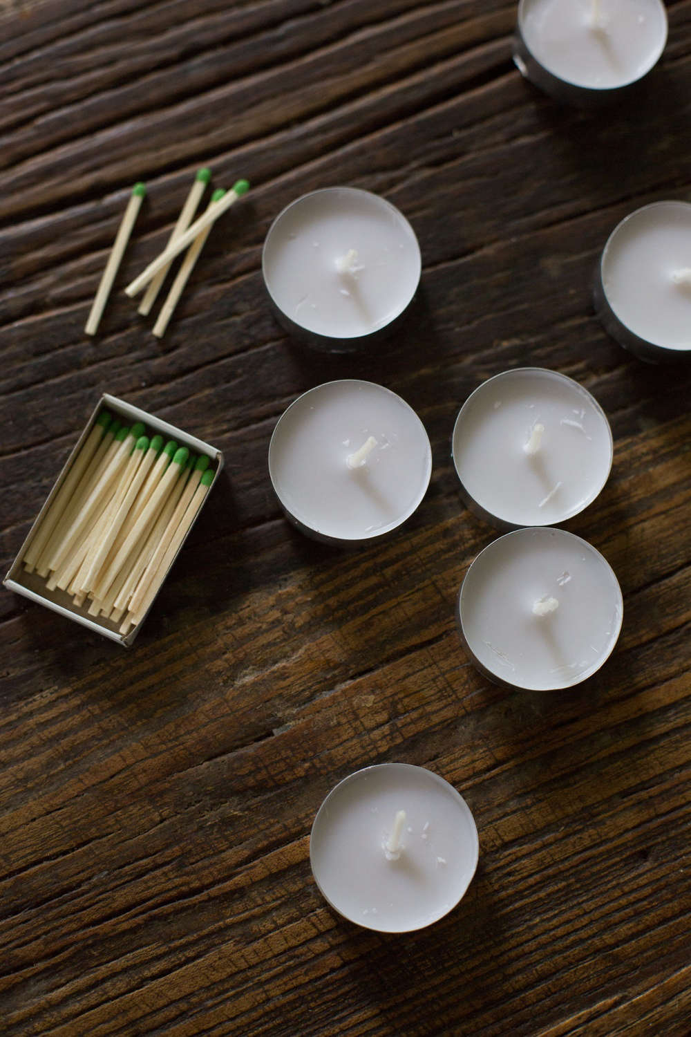 emergency kit candles and matches by Mimi Giboin