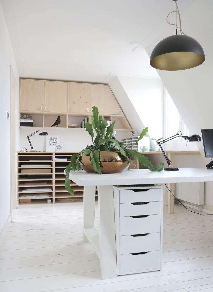 Interior designer-botanical artist Maaike Koster's home studio, Haarlem, the Netherlands.