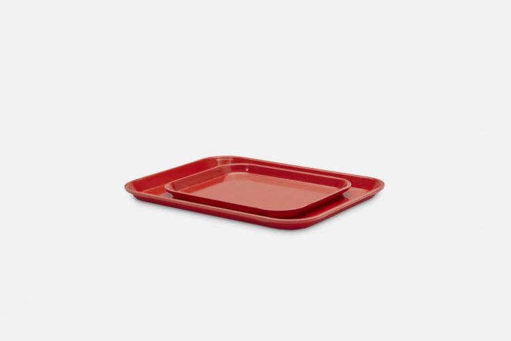 Merci French Small Fiberglass Tray Red