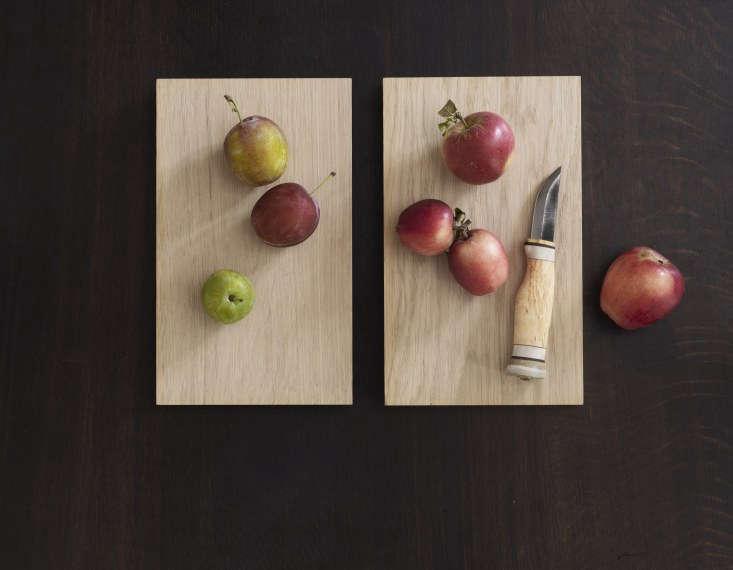 Rene and Nadine Redzepi Apples and Knife in Kitchen in Copenhagen, Photo Courtesy of Dinesen