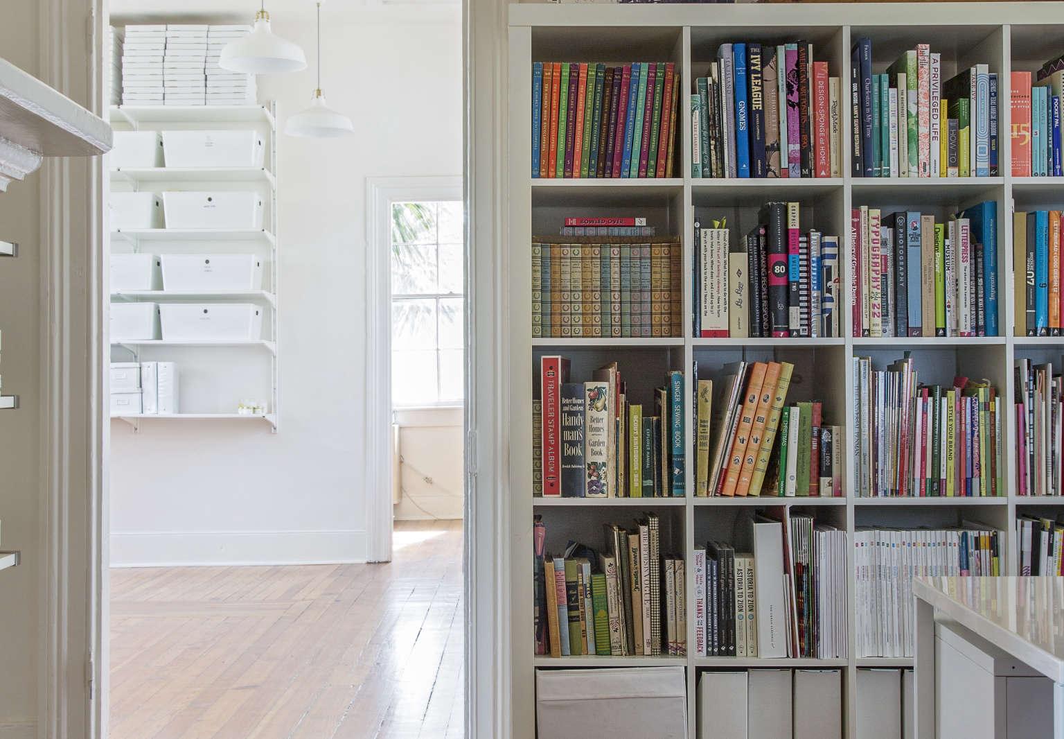 Shelves in SCDO Partners Charleston Office
