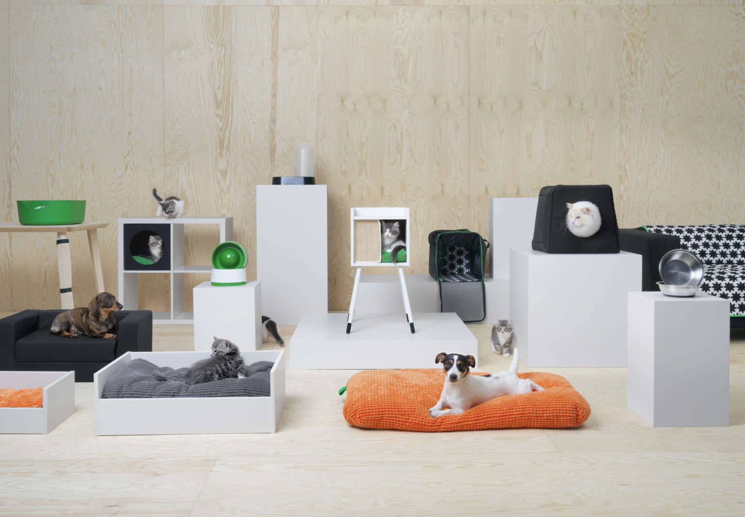 An overview of Ikea's ew Lurvig collection for cats and dogs.