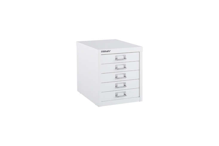 Bisley White 5-Drawer Cabinet