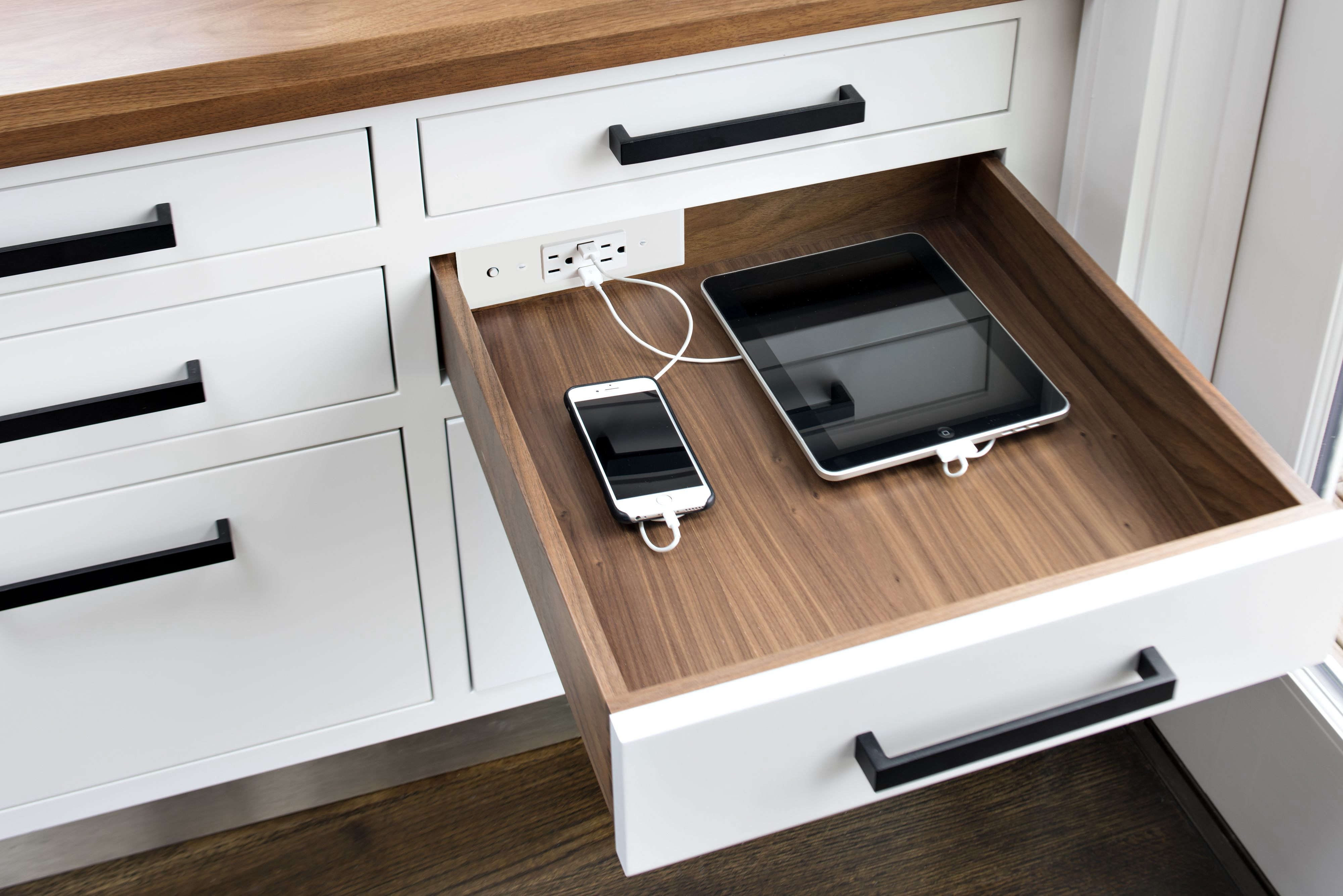Docking Drawer in-drawer charging outlet.