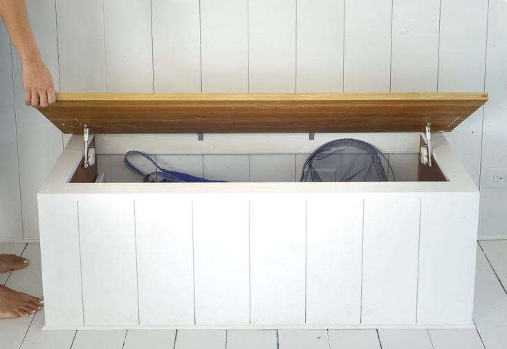 Built-In Chest in Falmouth Beach Cottage