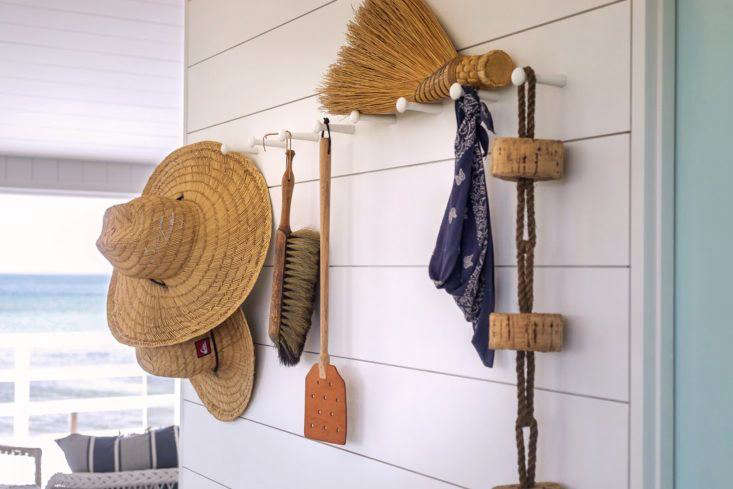 Hooks on Wall in Falmouth Beach Cottage