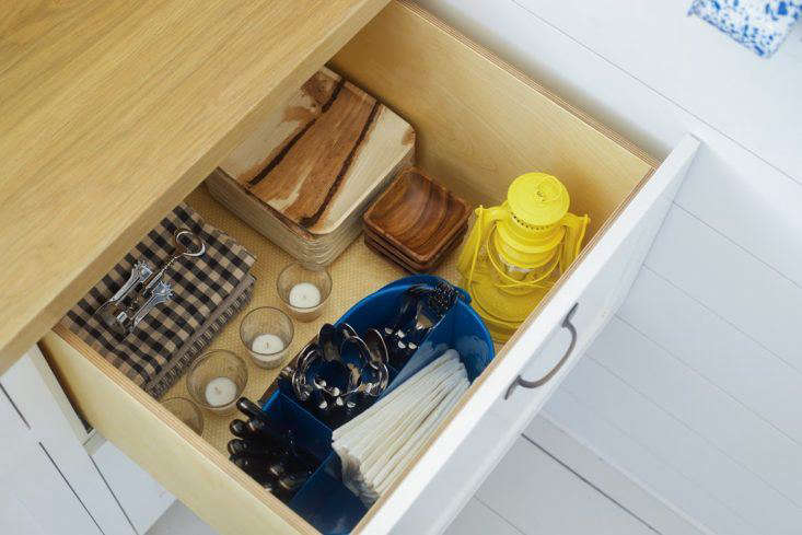 Kitchen Drawer in Falmouth Beach Cottage