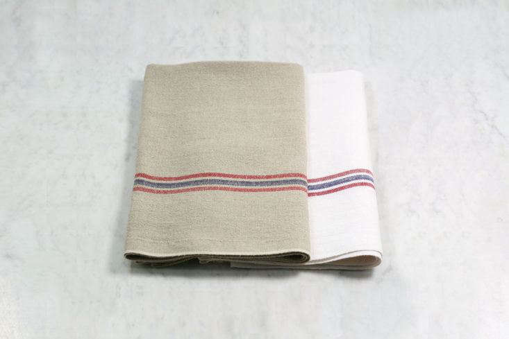 French Striped Dish Towel