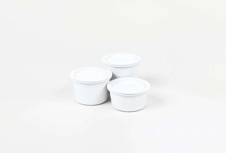 Kaico Enamel Canisters White