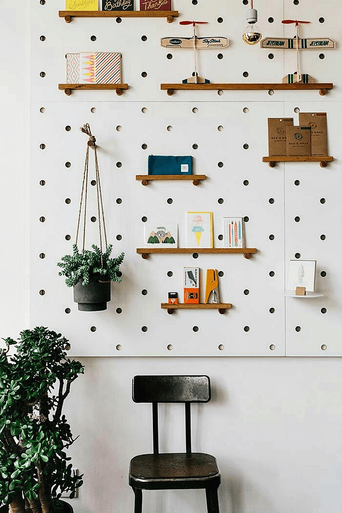 Pegboard at Loyal Supply Co in Sommerville, MA