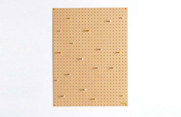 Large Pegboard with Wooden Pegs from Block