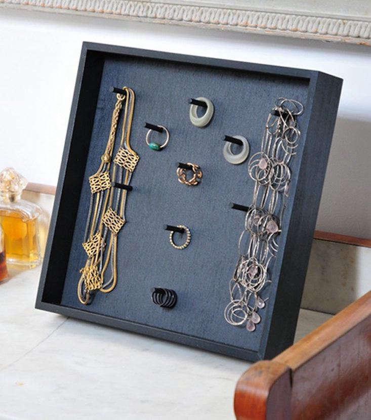 Zangra Jewelry Rack Black Painted Beech