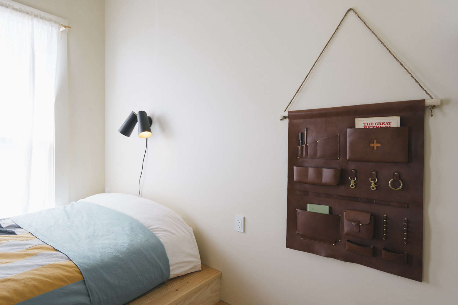 Jennings Hotel hanging wall pockets. Photograph by Greg Hennes