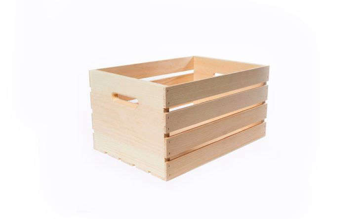 A Wood Crate in Large is also 12.5 inches wide but is 18 inches long; $12.98 at The Home Depot.