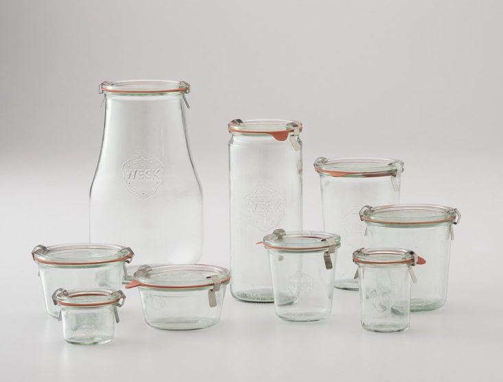Weck Storage Jars from Schoolhouse Electric start at $3 for the smallest size and go up to $16 for the largest size.