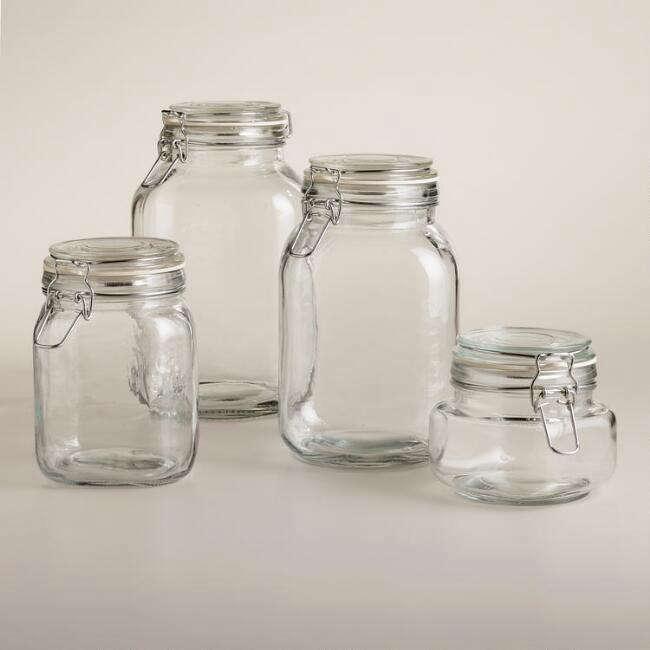 World Market Round Glass Jars