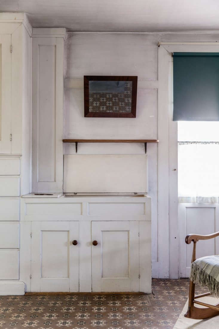 Washbasin in Bedroom at Canterbury Shaker Village, Photo by Erin Little