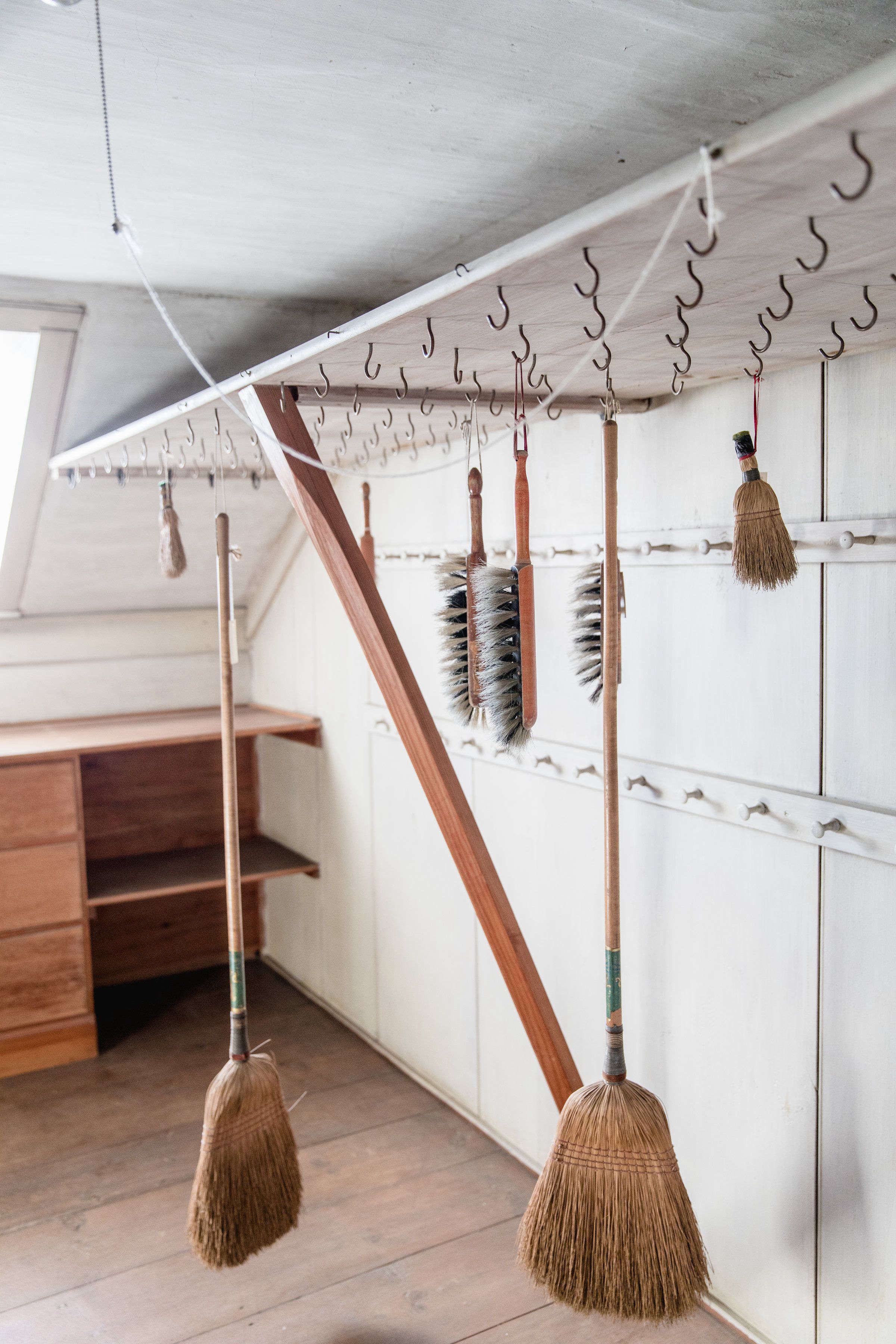 Hooks in Closet at Canterbury Shaker Village, Photo by Erin Little