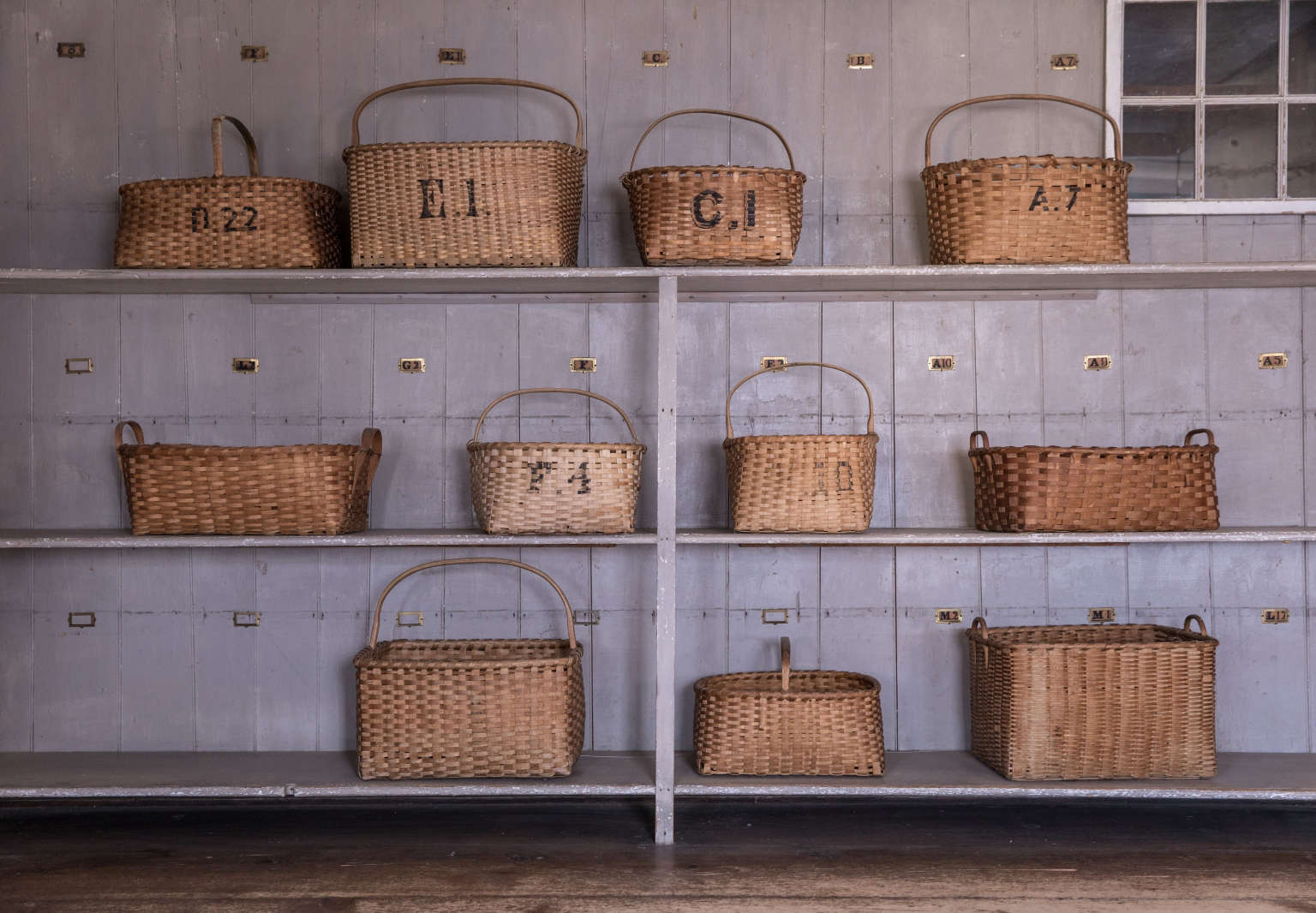Laundry Baskets at Canterbury Shaker Village, Photo by Erin Little